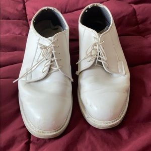 Dress white shoes